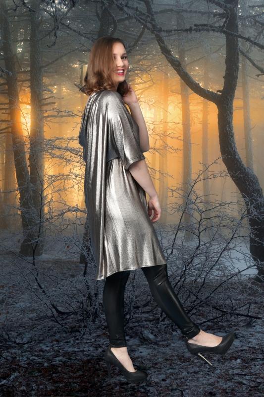Klara Kjóll - Gyllt Shimmer