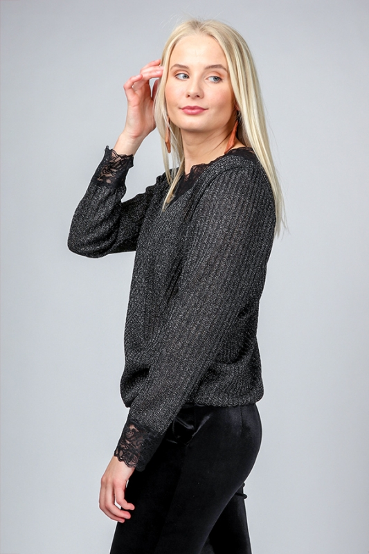 Helena Peysa - Svartasilfur Prjóna