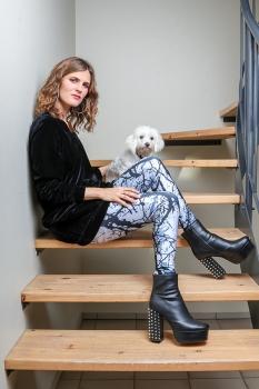 Kara Leggings - Gráar Greinar image