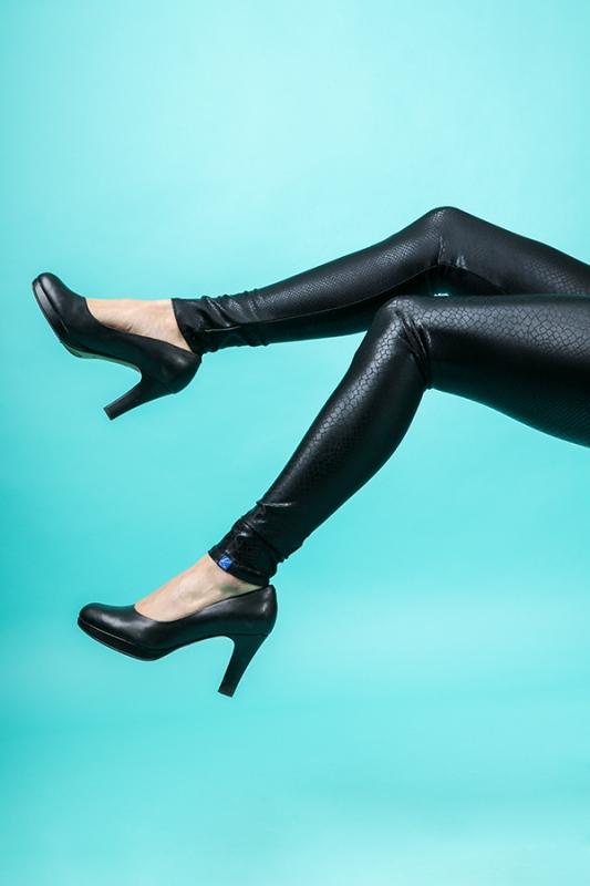 Kara Leggings - Svart Snake