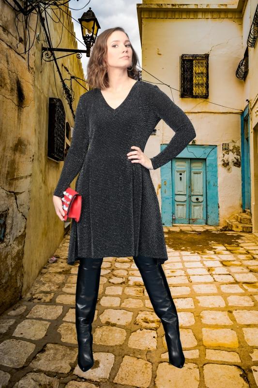 Elsa Kjóll - Silfur Glamúr
