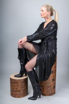 Ella Kjóll - Svartur Shimmer image