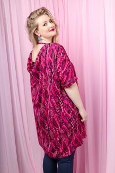 Klara Kjóll - Pink Fields Chiffon image
