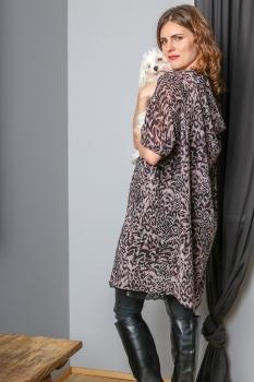 Klara Kjóll - Fjólu Leopard Chiffon image